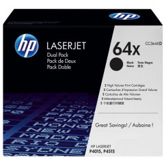Toner HP Mono Laser 64X DUO LaserJet P4014 2x24.000 pag. BK