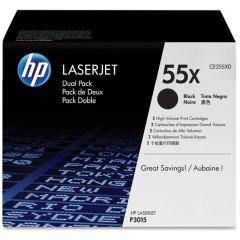 HP laserjet P3015 toner CE255X BK HC (duo)