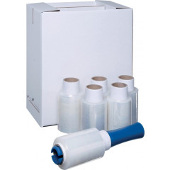 Stretchfolie Transpal Handy Wrap 100mmx150m 15µ transparant (6) inclusief dispenser