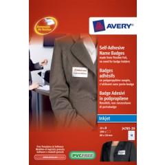 Naambadge labels Avery zelfklevend 50x80 (200)