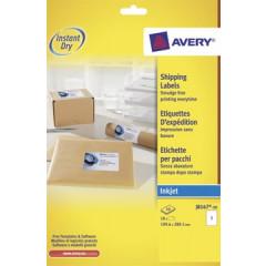 Etiket Avery Shipping 01 etik/bl 199,6x289,1mm voor inkjet wit (10)