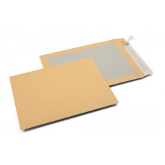Zakomslag met kartonnen rug 229x324 bruin + strip (100)