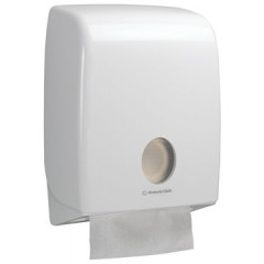 Handdoekdispenser Kimberly Clark Aquarius C-vouw wit