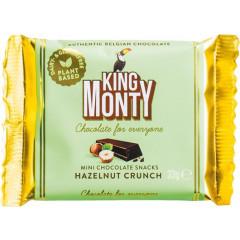 Chocoladereep King Monty Hazelnut Crunch 33g (12)