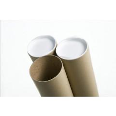 Verzendkoker Ø 60mm x 45cm bruin + 2 deksels