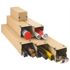 Progress longbox koker 315x105x105mm strip bruin (10)