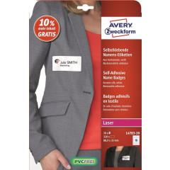 Etiket Avery Textiel 16 etik/bl 88,9x31mm voor laser wit (20)