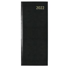 Agenda Aurora Longo LA411 Linnen 140x340mm zwart 2022 1 dag/2 pagina's