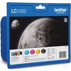 Cartridge Brother Inkjet LC1000 DCP-130 500 pag./400 pag. VALUE PACK BK/C/M/Y