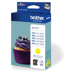 Cartridge Brother Inkjet LC123 DCP-J132W 600 pag. YEL