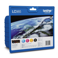 Cartridge Brother Inkjet LC985 DCP-J125 300 pag./260 pag. VALUE PACK BK/C/M/Y