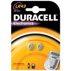 Knoopcelbatterij Duracell LR43 1,5V (2)