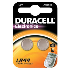 Knoopcelbatterij Duracell LR44/SR44/357/303 1,5V (2)