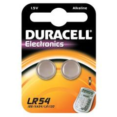 Knoopcelbatterij Duracell LR54 1,5V (2)