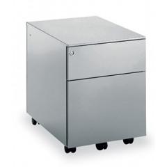 Ladenkast op wielen Mobo 1+1 laden antraciet