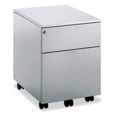 Ladenkast op wielen Mobo 1+1 laden aluminium