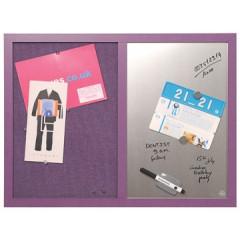 Combinatiebord Bisilque 60x45cm textiel/magnetisch lavendel