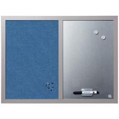 Combinatiebord Bisilque 60x45cm textiel/magnetisch blauw