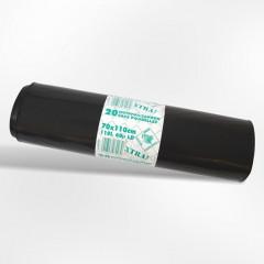 Vuilniszak Koala 70x110cm 110l 60µ LDPE zwart (20)