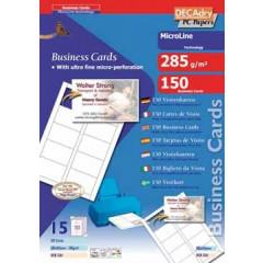 Visitekaarten Decadry MicroLine 85x54mm 285g 10/bl (15)