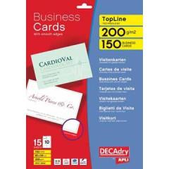 Visitekaarten Decadry TopLine 84x54mm 200g 10/bl ronde hoeken (15)