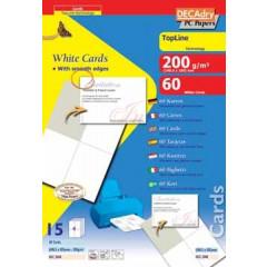 Visitekaarten Decadry TopLine 148,5x105mm 200g 4/bl (15)