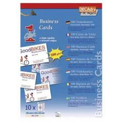 Visitekaarten Decadry OneClick 84x54mm 280g 10/bl (10)