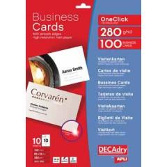 Visitekaarten Decadry OneClick 84x54mm 280g 10/bl mat (10)