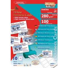 Visitekaarten Decadry OneClick 84x54mm 280g 10/bl glanzend (10)