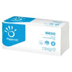 Handdoek Papernet 2-laags V-vouw wit (250)