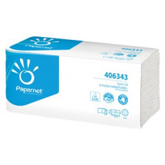 Handdoek Papernet 2-laags V-vouw extra wit (250)
