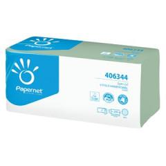 Handdoek Papernet 2-laags V-vouw groen (250)