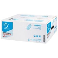 Handdoek Papernet Z-Vouw 22x24cm 2-laags 200v/pak wit (20)