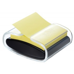 Z-Notes Post-it 76x76mm geel met dispenser Pro Color transparant