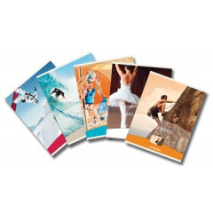 Verslagschrift Aurora Splendid karton A4 gelijnd 36blz met blauwe marge