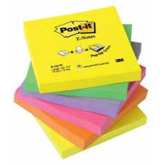 Z-Notes Post-it 76x76mm assorti neon (6)