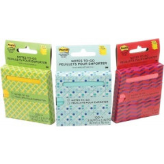 "Z-notes Post-it ""On The Go"" 76x76mm assorti blister"
