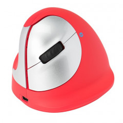 Draadloze ergonomische muis R-Go HE voor linkshandigen rood