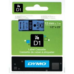 Dymo D1 tape 12mmx7m zwart/blauw (4501600)