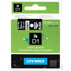 Dymo D1 tape 12mmx7m wit/zwart (45021)