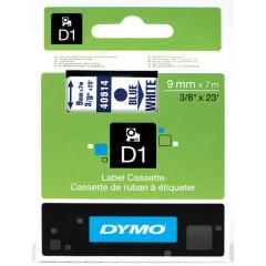 Dymo D1 tape 9mmx7m blauw/wit (40914)