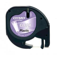 Dymo letratag tape plastic transparant (12267)