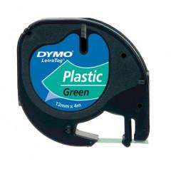 Dymo letratag tape plastic groen (91204)