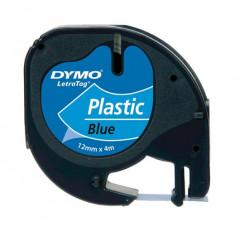 Dymo letratag tape plastic blauw (91205)