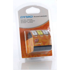 Dymo letrat. Tape 3-pack (pap+plast+metal) (91240)