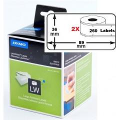 Dymo etiket groot adres 89x36mm (2x260) (99012)