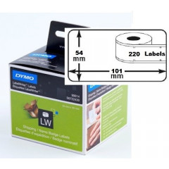 Dymo etiket verzend/badge 101x54mm (220) (99014)