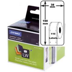 Dymo etiket ordner smal 38x190mm (110) (99018)