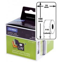 Dymo etiket ordner breed 59x190mm (110) (99019)