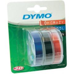 Dymo d3 tape 9mmx3m assorti blister 3 (S084775)